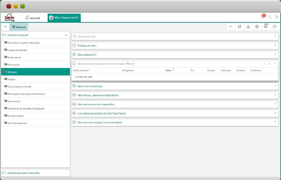 browser GererMesAffaires.com coffre-fort numérique entreprise