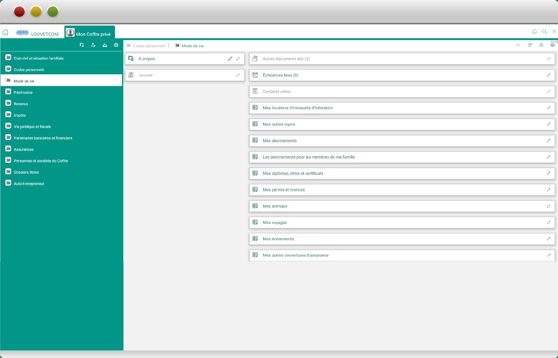 navigateur coffre-fort numérique privé